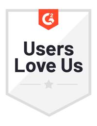 G2 Users Love Us 2020 badge